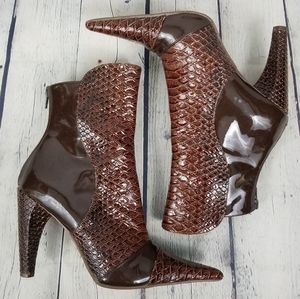 MICHAEL ANTONIO | pointed toe reptile print boots